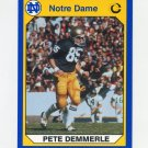 1990 Notre Dame 200 Football #073 Pete Demmerle - University of Notre Dame