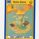 1990 Notre Dame 200 Football #052 Liberty Bowl 1983 - University of Notre Dame