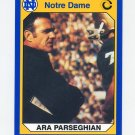 1990 Notre Dame 200 Football #050 Ara Parseghian - University of Notre Dame