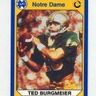 1990 Notre Dame 200 Football #049 Ted Burgmeier - University of Notre Dame