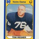 1990 Notre Dame 200 Football #043 Tom Regner - University of Notre Dame
