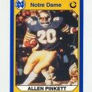 1990 Notre Dame 200 Football #037 Allen Pinkett - University of Notre Dame
