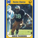 1990 Notre Dame 200 Football #033 Mike Fanning - University of Notre Dame