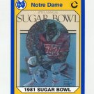 1990 Notre Dame 200 Football #031 47th Sugar Bowl - University of Notre Dame