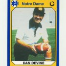 1990 Notre Dame 200 Football #028 Dan Devine - University of Notre Dame