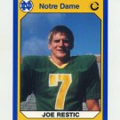 1990 Notre Dame 200 Football #027 Joe Restic - University of Notre Dame