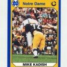 1990 Notre Dame 200 Football #019 Mike Kadish - University of Notre Dame