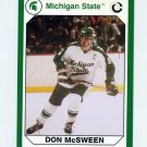 1990-91 Michigan State Collegiate Collection 200 #196 Don McSween - Michigan State Spartans