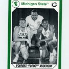 1990-91 Michigan State Collegiate Collection 200 #190 Forrest Anderson - Michigan State Spartans