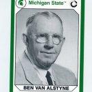 1990-91 Michigan State Collegiate Collection 200 #180 Ben Van Alstyne - Michigan State Spartans