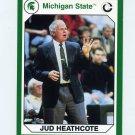 1990-91 Michigan State Collegiate Collection 200 #178 Jud Heathcote - Michigan State Spartans