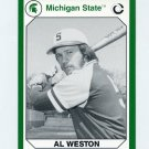 1990-91 Michigan State Collegiate Collection 200 #166 Al Weston - Michigan State Spartans