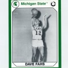 1990-91 Michigan State Collegiate Collection 200 #160 Dave Fahs - Michigan State Spartans