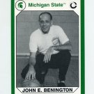 1990-91 Michigan State Collegiate Collection 200 #151 John Benington - Michigan State Spartans