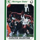 1990-91 Michigan State Collegiate Collection 200 #149 Carlton Valentine - Michigan State Spartans
