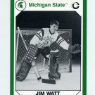 1990-91 Michigan State Collegiate Collection 200 #127 Jim Watt - Michigan State Spartans