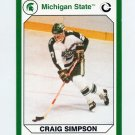 1990-91 Michigan State Collegiate Collection 200 #125 Craig Simpson - Michigan State Spartans