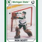 1990-91 Michigan State Collegiate Collection 200 #124 Ron Scott - Michigan State Spartans