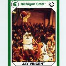 1990-91 Michigan State Collegiate Collection 200 #123 Jay Vincent - Michigan State Spartans