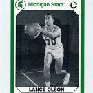 1990-91 Michigan State Collegiate Collection 200 #110 Lance Olson - Michigan State Spartans