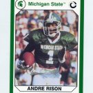 1990-91 Michigan State Collegiate Collection 200 #096 Andre Rison - Michigan State Spartans