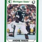 1990-91 Michigan State Collegiate Collection 200 #077 Andre Rison - Michigan State Spartans