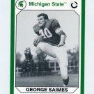 1990-91 Michigan State Collegiate Collection 200 #071 George Saimes - Michigan State Spartans