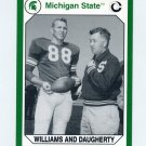 1990-91 Michigan State Collegiate Collection #047 S. Williams/D. Daugherty-Michigan State Spartans