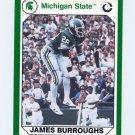 1990-91 Michigan State Collegiate Collection 200 #041 James Burroughs - Michigan State Spartans