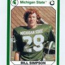 1990-91 Michigan State Collegiate Collection 200 #029 Bill Simpson - Michigan State Spartans