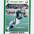1990-91 Michigan State Collegiate Collection 200 #019 Lorenzo White - Michigan State Spartans