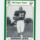 1990-91 Michigan State Collegiate Collection 200 #013 Sherman Lewis - Michigan State Spartans