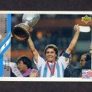 1994 Upper Deck World Cup Contenders English/Spanish Soccer #231 Oscar Ruggeri - Argentina