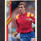 1994 Upper Deck World Cup Contenders English/Spanish Soccer #189 Julio Salinas - Spain