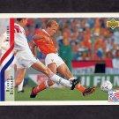 1994 Upper Deck World Cup Contenders English/Spanish Soccer #175 Dennis Bergkamp - Holland