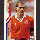 1994 Upper Deck World Cup Contenders English/Spanish Soccer #170 Jan Wouters - Holland