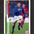 1994 Upper Deck World Cup Contenders English/Spanish Soccer #162 Stefano Eranio - Italy
