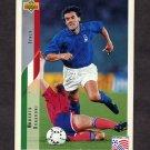 1994 Upper Deck World Cup Contenders English/Spanish Soccer #161 Roberto Donadoni - Italy