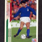 1994 Upper Deck World Cup Contenders English/Spanish Soccer #155 Alessandro Costacurta - Italy