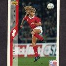 1994 Upper Deck World Cup Contenders English/Spanish Soccer #130 Allain Sutter - Switzerland