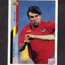 1994 Upper Deck World Cup Contenders English/Spanish Soccer #113 Dirk Medved - Belgium