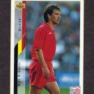 1994 Upper Deck World Cup Contenders English/Spanish Soccer #108 Marc DeGrujse - Belgium