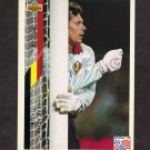 1994 Upper Deck World Cup Contenders English/Spanish Soccer #102 Michael Preud'Homme - Belgium