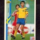 1994 Upper Deck World Cup Contenders English/Spanish Soccer #097 Stefan Rehn - Sweden
