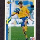 1994 Upper Deck World Cup Contenders English/Spanish Soccer #096 Roger Ljung - Sweden