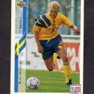 1994 Upper Deck World Cup Contenders English/Spanish Soccer #089 Klas Ingasson - Sweden