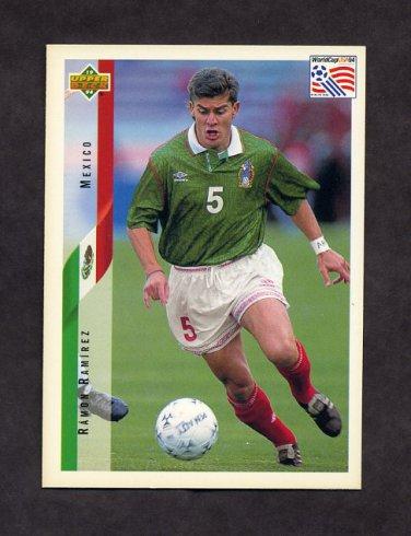 1994 Upper Deck World Cup Contenders English/Spanish Soccer #034 Ramon Ramirez - Mexico