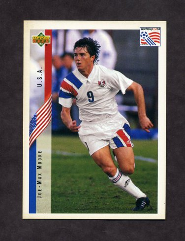 1994 Upper Deck World Cup Contenders English/Spanish Soccer #024 Joe-Max Moore - U.S.A.