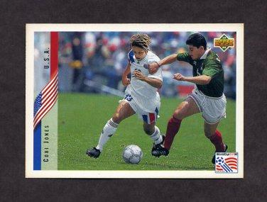 1994 Upper Deck World Cup Contenders English/Spanish Soccer #011 Cobi Jones - U.S.A.