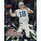 2000 Bowman Chrome Football Shattering Performers #SP02 Peyton Manning - Indianapolis Colts